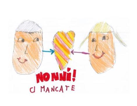 Nonni, ci mancate! Un disegno dei bambini per fare gli auguri a ciascun anziano