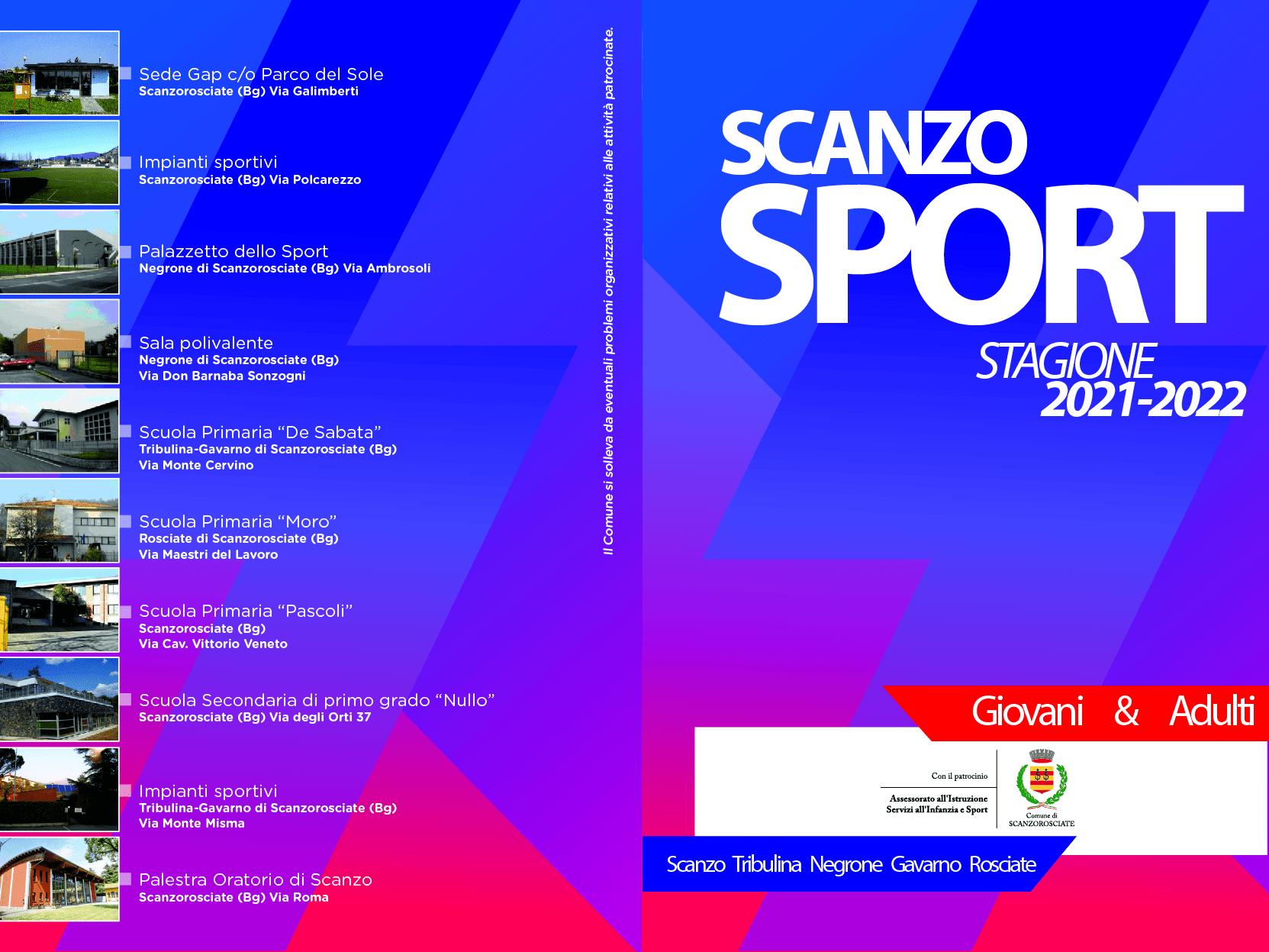 ScanzoSport, tutte le attività per giovani e adulti