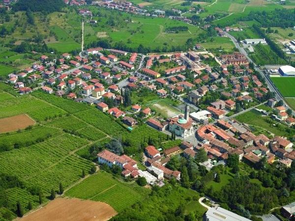 vista aerea del paese